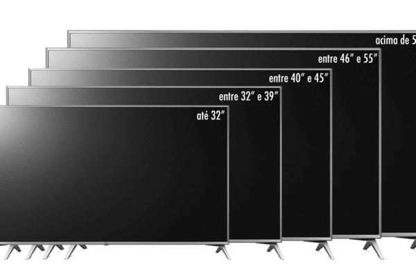 qual é o tamanho ideal para TV da sua casa